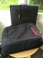 Laptop bag and lap desk with fan