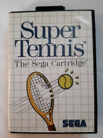 Super Tennis Video Game for Sega Master System Console