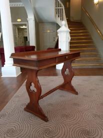 Solid mahogany console writing desk