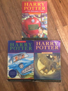 First 3 Harry Potter books