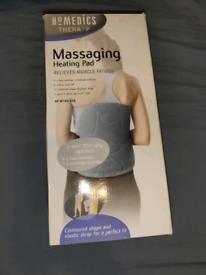 Shiatsu massaging heating pad