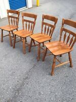 4 Wood Wooden Dining Table Chairs