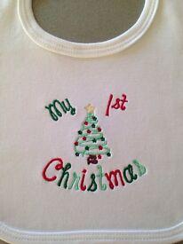 Handmade Embroidered Baby bib