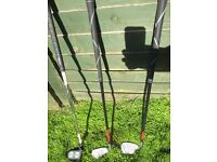 junior set of 3 golf clubs