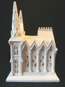 Partylite Cathedral Porcelain Bisque Candleholder #P7307