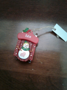 Brand New Katie Christmas Ornament