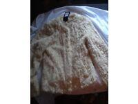 Faux fur brand new coat