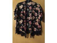 Floaty short sleeved jacket/cardi