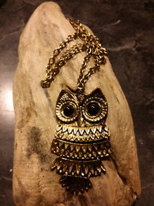 1980's Owl Necklace - For  Sale