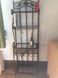 Etagère pour bouteilles - verres à pied - livres cuisine