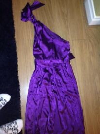Lovely one shoulder long bridesmaid or prom dress