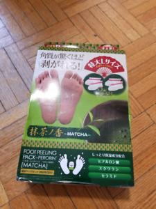 Japanese foot peeling pack matcha green tea flavor 2 pairs