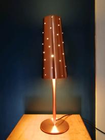 Beautiful Copper coloured Table Lamp