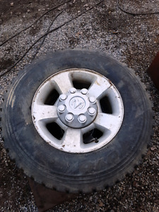 2 Tires with rims for Dodge 3/4  ton