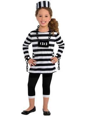 Child Teen Girls Convict Trouble Maker Costume Girls Inmate Prisoner Fancy Dress](Girl Inmate Costume)