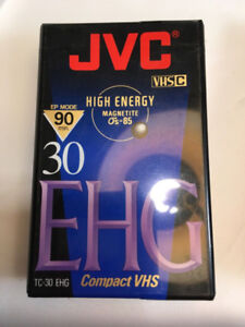 JVC High Energy Magnetite 30 EHG Compact VHS tape