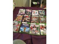 Xbox 360 console with kinect and 12 games
