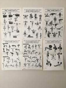 Original Weider Workout Charts and Training Book from the 1950's