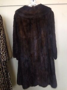 Manteau fourrure de rat musqué - Muskrat fur coat