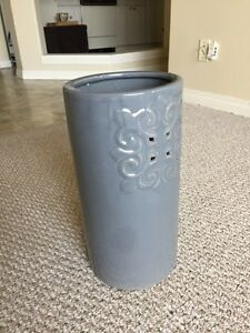 Clay umbrella stand / wrapping paper holder