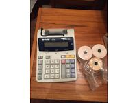 Electronic calculator printer
