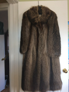 Canadian Raccoon Coat in perfect condition