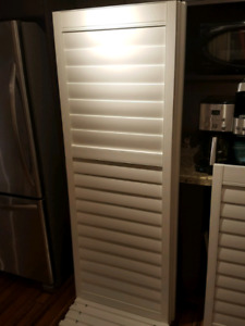 Eclipse shutters for garden doors. Retails for 400..