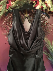CHARCOAL COCKTAIL DRESS