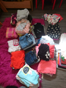 Assorted girl's clothing