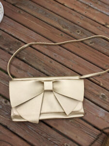 Gorgeous Pale Gold Bag with Large Bow