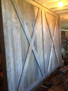 old barn door and barn door hardware have 32 of them many sizes