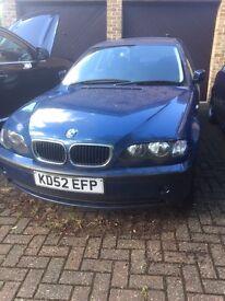 BMW 318i 4dr - Spares/Repairs