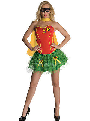 Adult Robin Fancy Dress Costume Sexy Superhero Tutu Corset Batman Ladies BN - Batman And Robin Tutu Costumes