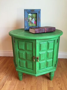 Refinished Retro Rustic End Table