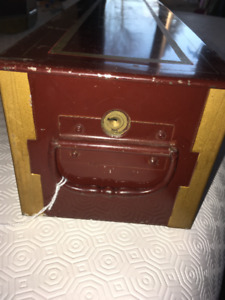 VINTAGE METAL SAFETY DEPOSIT BOX