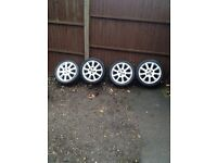 "Corsa c exclusive alloys with good tyres 16"" 07594145438"