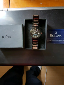 Bulova Mens Diamond Accented Stainless Steel Watch