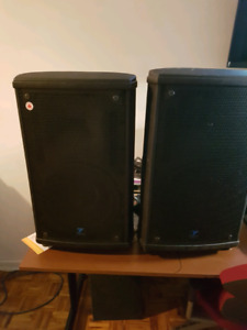 2 speaker Yorkville series two NX 25 P amplifier