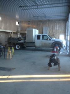 Looking for lot for office trailer and truck/job trailer.