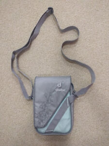 Deuter Mini Purse with Adjustable Strap in Light Blue and Grey