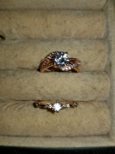 Sz 6 and sz 8 brand new rose gold fashion rings