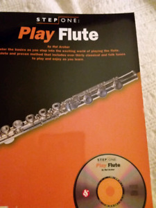 Play Flute instruction  music book and CD set