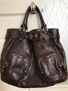 COLE HAAN - BROWN LEATHER TOTE BAG (large)
