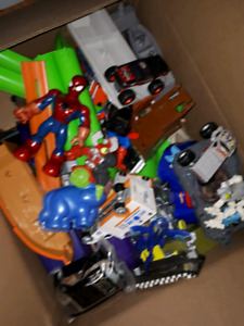 Box of kids toys