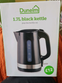 Dunelm black kettle and toaster