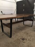 Rustic Harvest Table w/ benches for sale