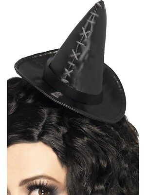 Mini Witch Hat Headband (Mini Witch Hat Black Adults Girls Ladies Costume Headband Witches Head Band)