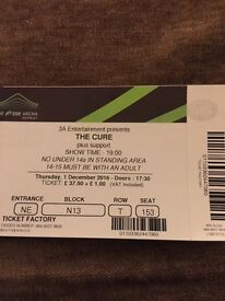 The Cure 2 x Seated Tickets, Thursday 1st Dec 2016. Face value