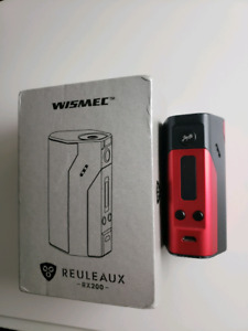 Wisemec RX200 with 3 batteries