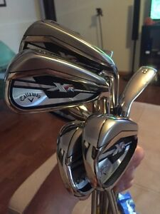 Brand new Callaway irons w older woods.